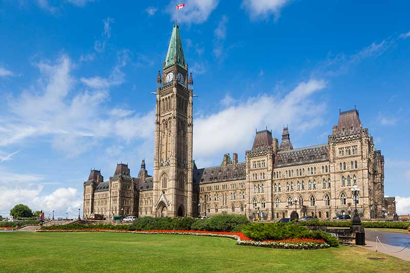 Parliament Buildings in Ottawa, Canada