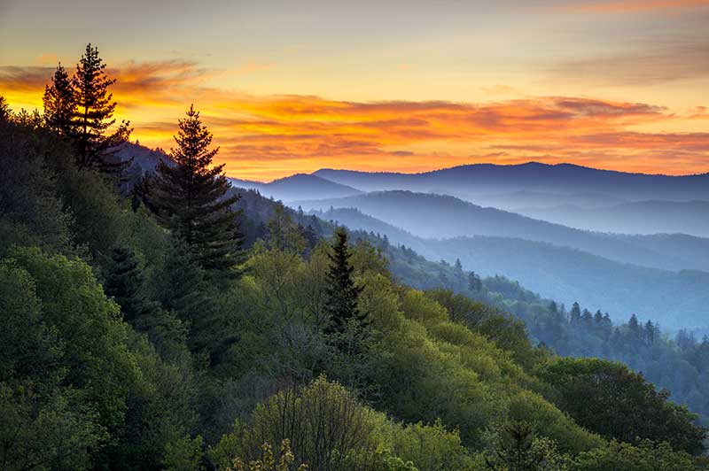 Great Smoky Mountains in the Southeast Region of the U.S.