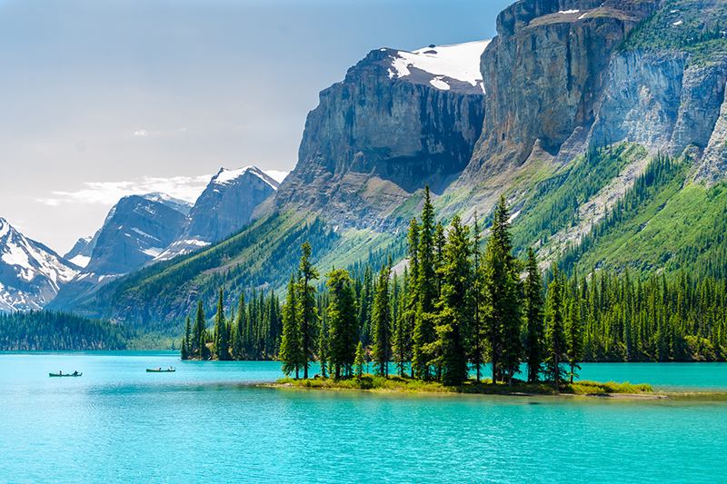 Rocky Mountains and Scenic Lake